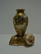 JAPON epoque Meiji   un petit vase en satsuma