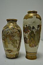 JAPON XIXEME  deux vases en satsuma , 19,5 et