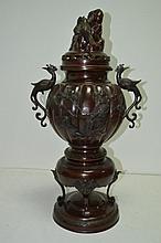 JAPON  Brule parfum en bronze travail époque M