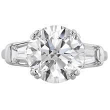 Brilliant Diamond  and Platinum ring