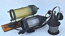 Three Lantern Sconces