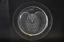 Lalique Crystal Plate 1971