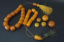 Butterscotch Amber Bakelite Beads 33 Pcs.