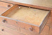 Oak Mirror Top Dresser