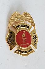 1996 Atlanta Olympics Firefighter Breast Shield