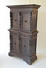 Antique Italian Walnut Court Cabinet