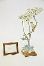Royal Worcester Model of Chiff Chaff and Hogweed