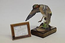 Royal Worcester Model of a Green-Winged Teal