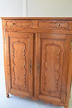 Antique French Provincial Cherrywood Cabinet