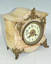 S. Marti Bronze and Marble Clock