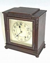 New Haven Mantle Clock With Pendulum and Bell