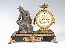 Ansonia Clock Co. Bronze Pendulum Mantle Clock