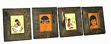 Set of Four Native American Prints