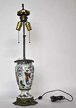 19th Century Chinese Vase Mounted as Lamp