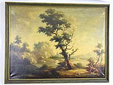 Large Oil on Canvas Extensive Landscape