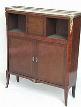 French Marble Top Cabinet with Ormolu Mounts