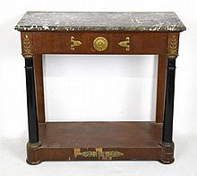 Marble Top Empire Console Table
