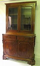 Antique 2 Part Step Back Cabinet