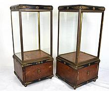 Pair Art Deco Vitrine Cabinets