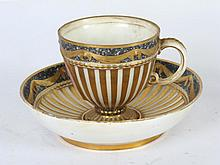 Early 19th C. Porcelain KPM Cup and Saucer
