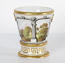 English Porcelain Cache Pot