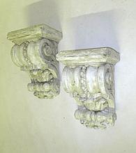 Pair Terracotta Wall Brackets