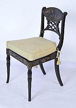 20th C. Vanity Chair with Chinoiserie Secretary