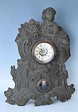 Cast Iron Figural Clock