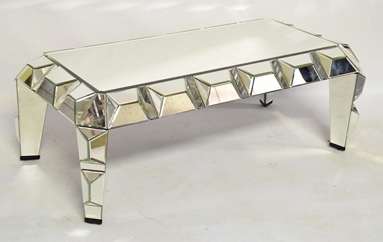 Contemporary Modern Mirrored Coffee Table