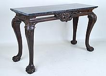 Chippendale Style Marble Top Console