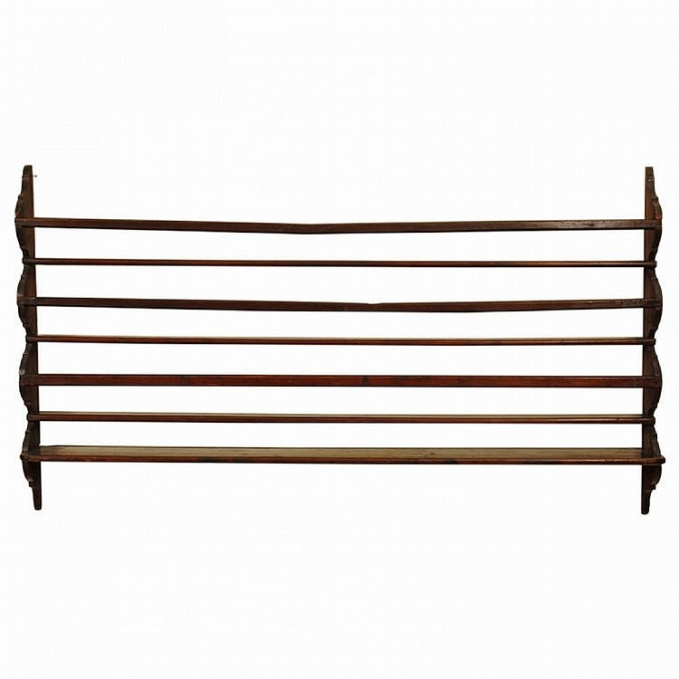 walnut wall mounted plate rack. Black Bedroom Furniture Sets. Home Design Ideas