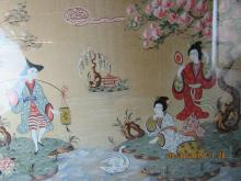 Very Old Korean Silk Painting
