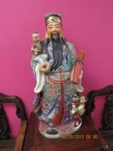 Massive Chinese Porcelain God Statue