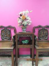 Chinese Jade & Cloisonne Flower Basket