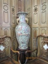 Chinese Porcelain Floor Vase with Elephant Handles