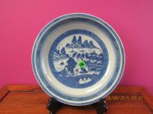 Asian arts Blue and White Plate