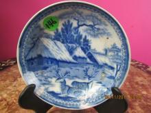 European Arts Blue and White Plate