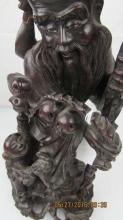 Chinese Hand-Carved Rosewood Statue, Ming