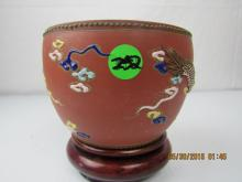 Asian Arts Clay Pottery with Dragon