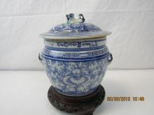 Very Old Asian Arts Blue and White Jar