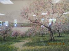 European Arts Painting of Peach Flower Trees