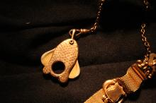 Circa 1916 Watch FOB Goldfish cutter dated 1916