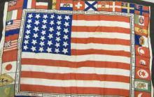 [Historical] 1876 Centennial International Exhibit Flag Scarf
