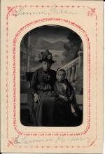 [Black Americana] Black Woman and Child Tintype, 1860's Clear Portrait