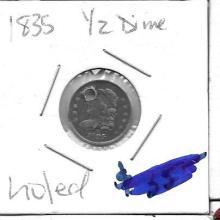 Lot of Half Dimes 1835, 1857, 1857, 1862