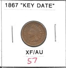 Small Cent 1867 Indian Head Cent Key Date