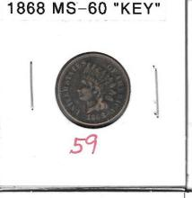 Small Cent 1868 Indian Head Cent Key Date