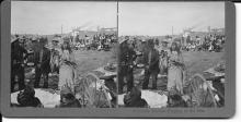 [Native American] N.A. Forsyth, Stereoview, Medicine Woman Praying to the Sun