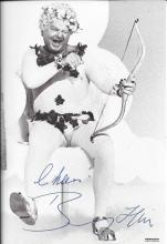 Benny Hill autographed postcard