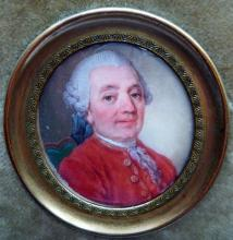 Early 19th Century portrait on ivory of a gentleman